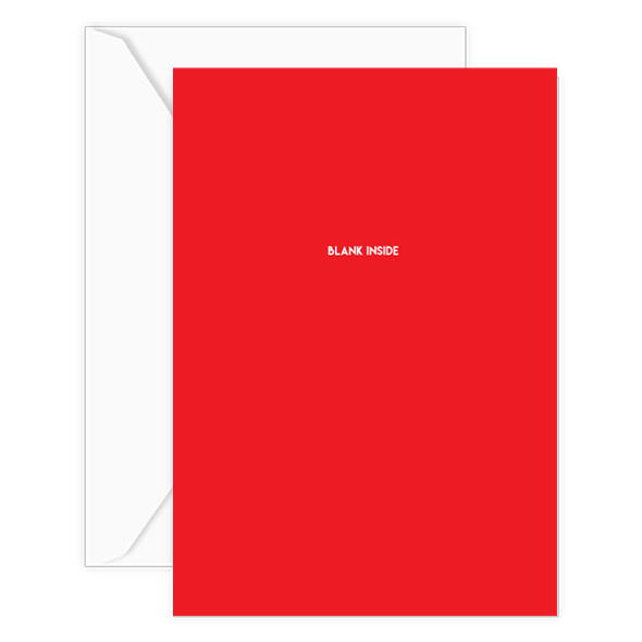 blank inside card w-envelope