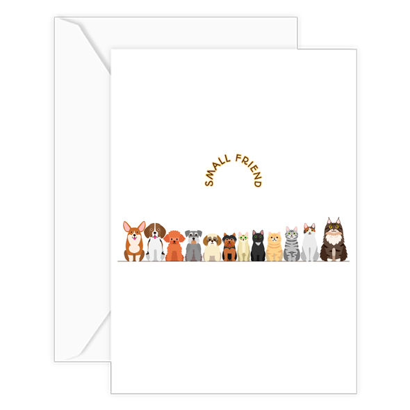 small friend card w-envelope