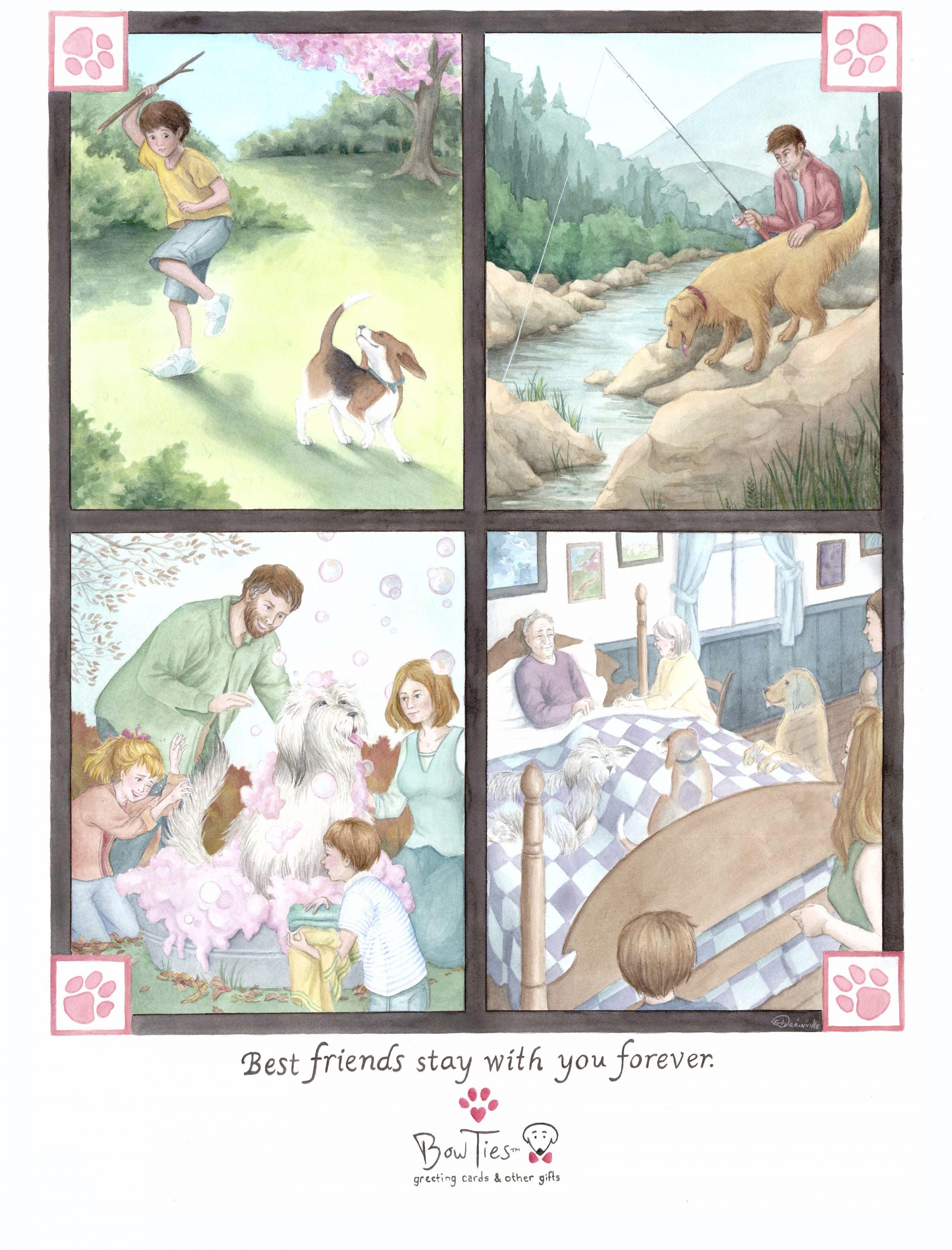 Best Friends Stay With You Forever – print