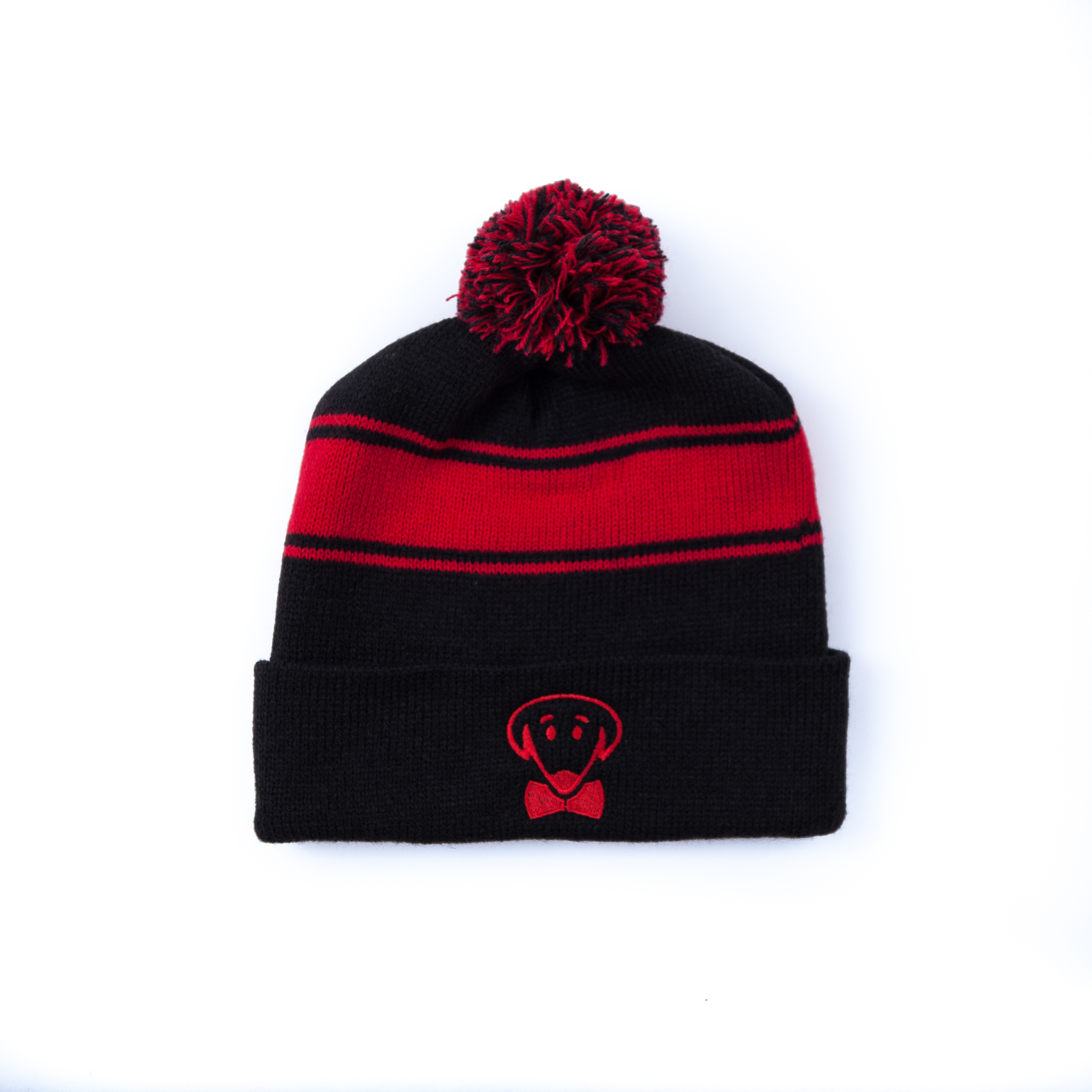 Black and red winter knit hat-Stay Warm, Look Cool
