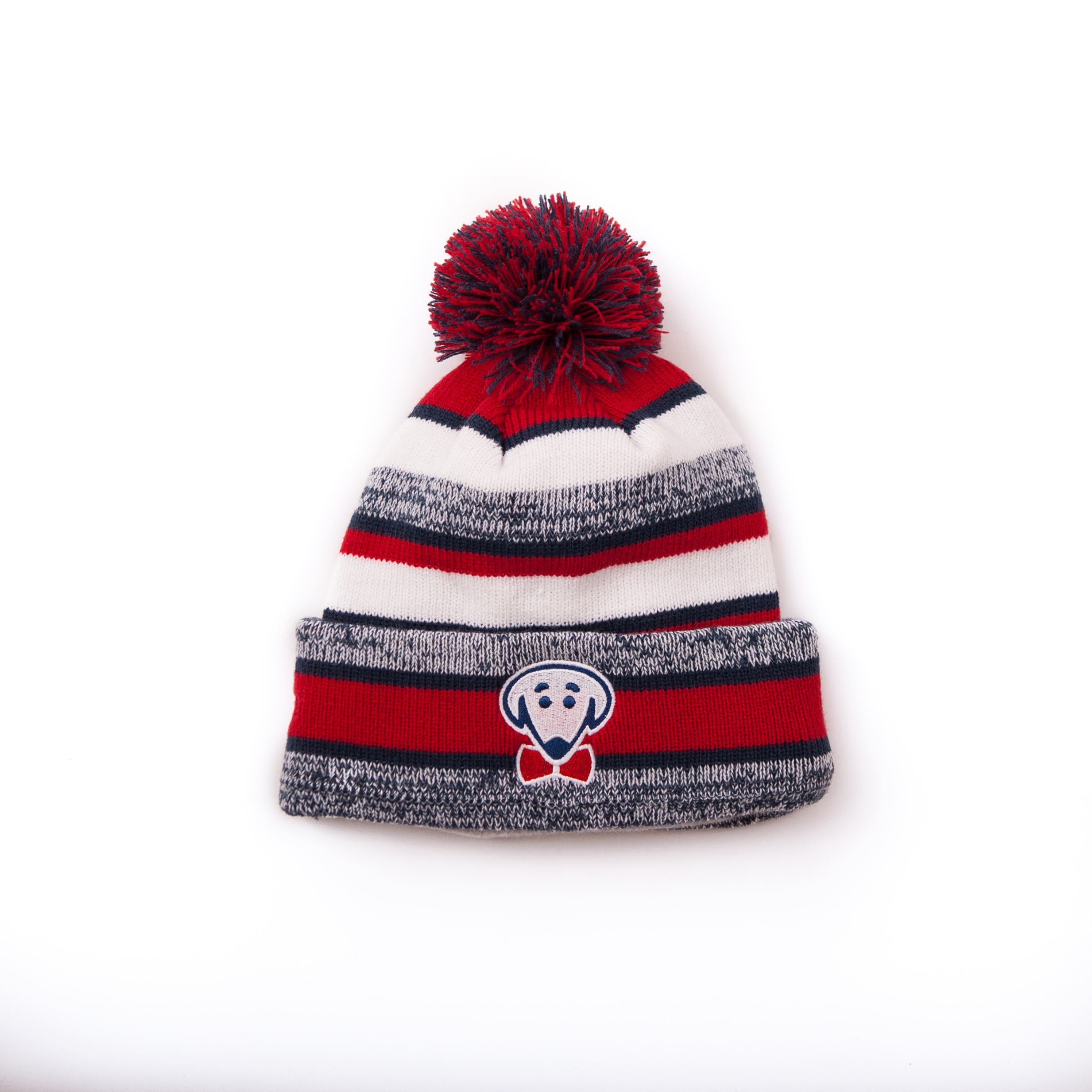 Fleece-lined BT winter hat with pom