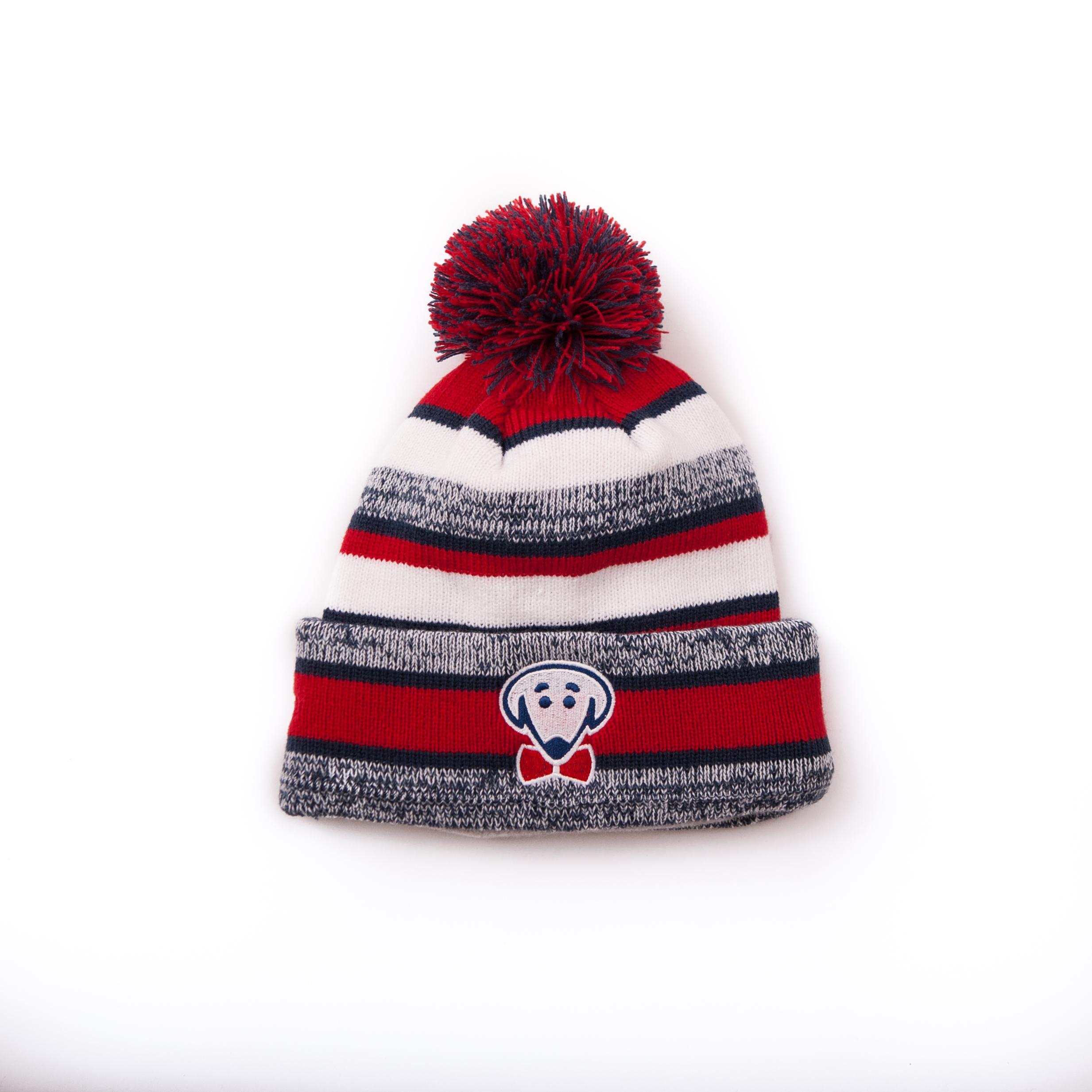 Beau Tyler fleece-lined Mosi winter hat with pom