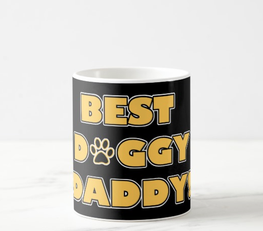 Best Doggy Daddy black and yellow mug