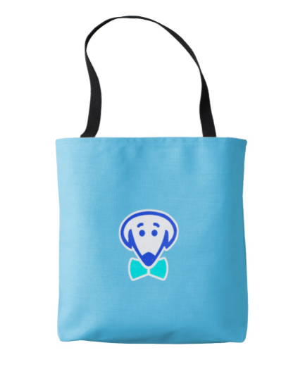 Classic tote bag with Bow Ties dog logo – various colors