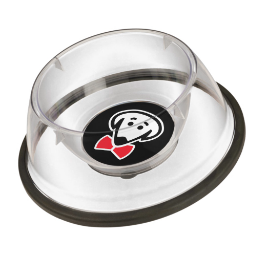 Bow Ties clear pet bowl