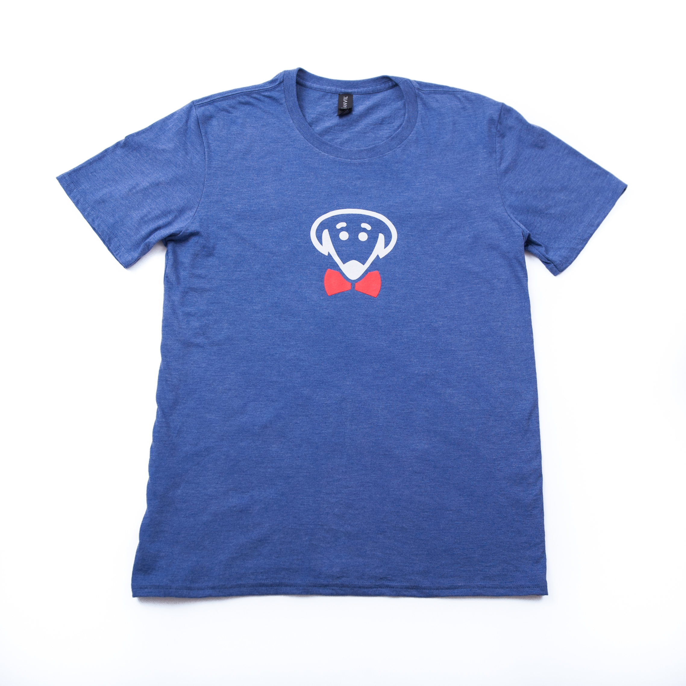 Bow Ties heather blue t-shirt