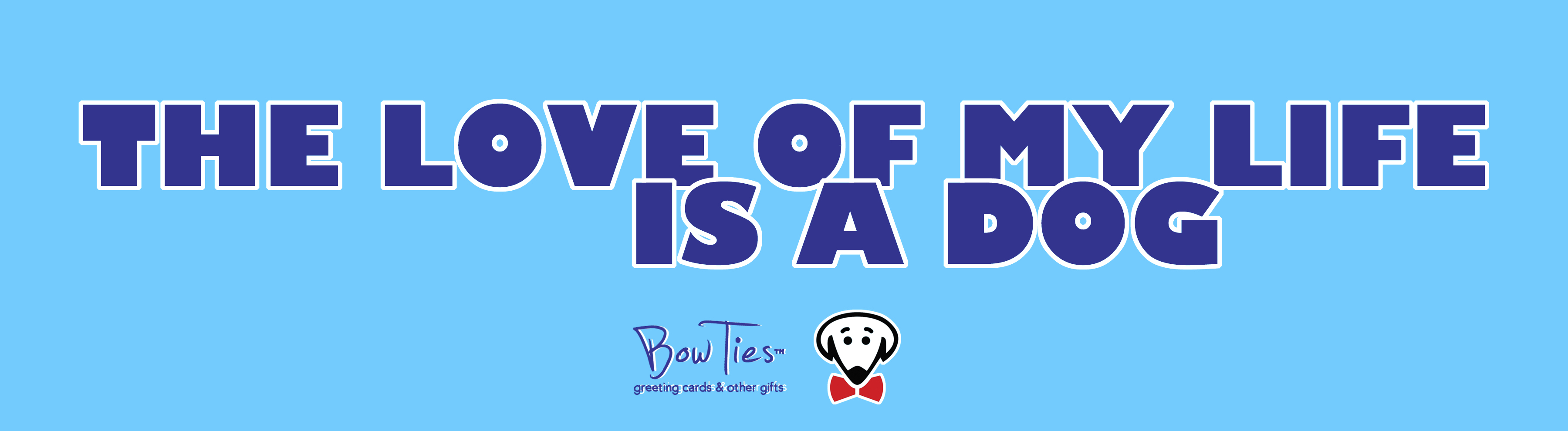 The love of my life is a dog – sticker