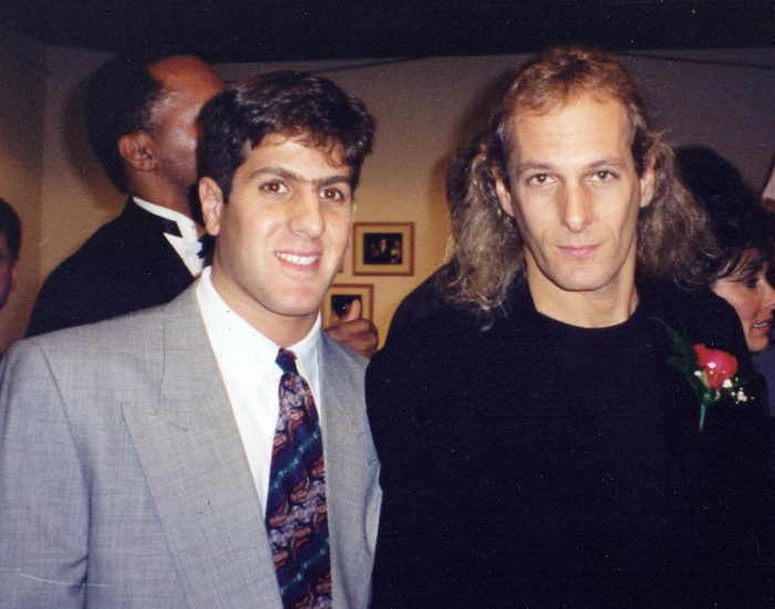 with Michael Bolton (!)