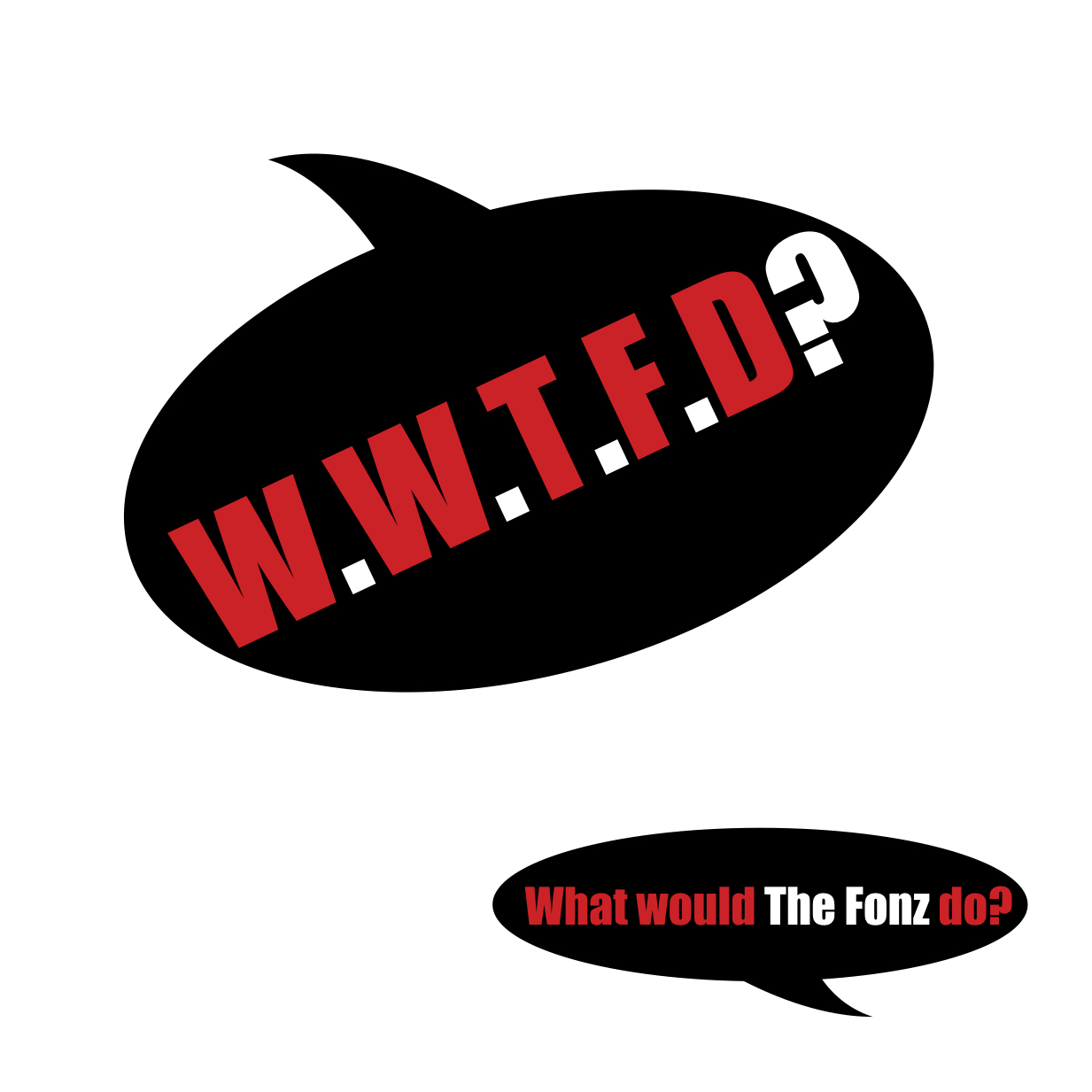 W.W.T.F.D? What would The Fonz do?, etc.- coaster set