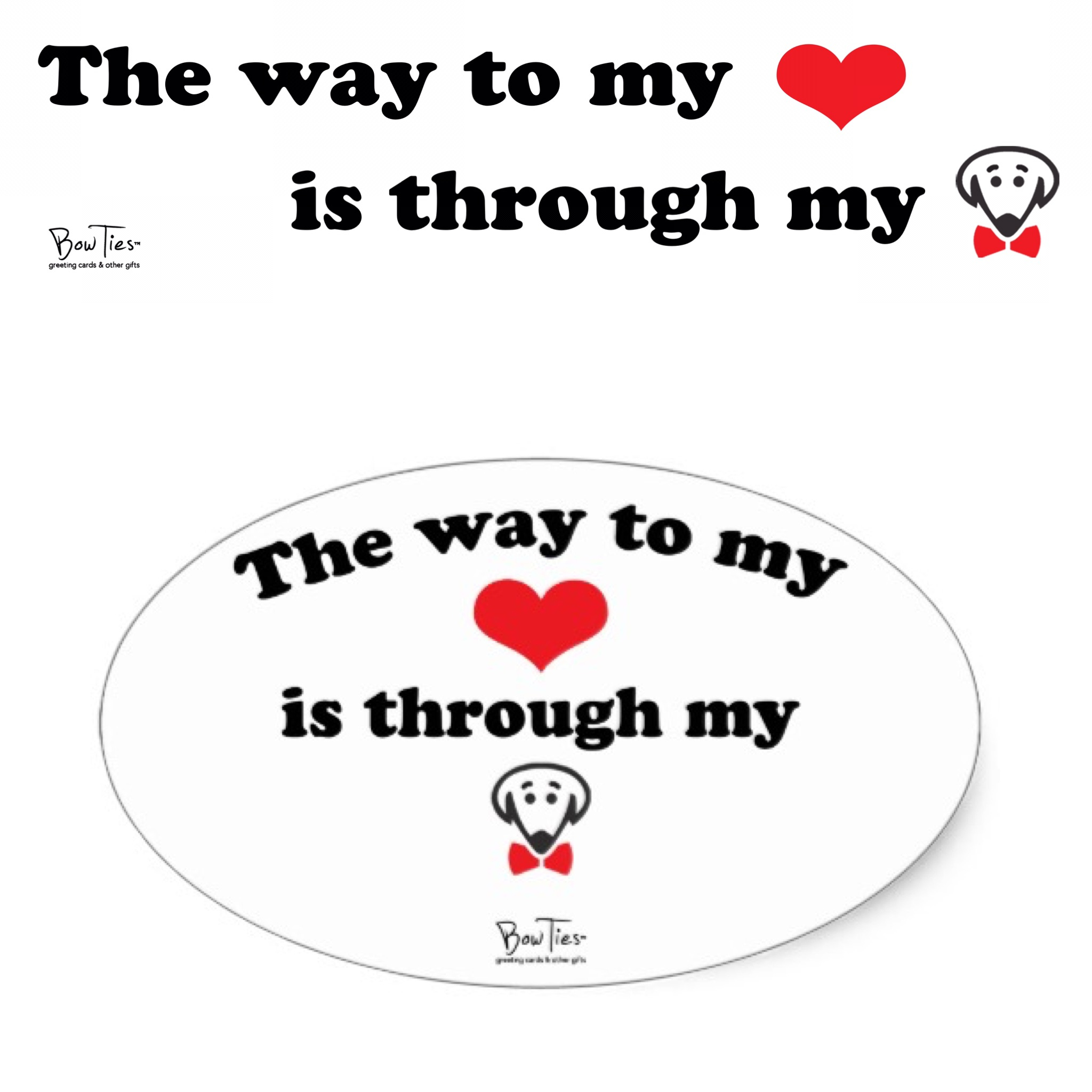 The way to my heart… – sticker