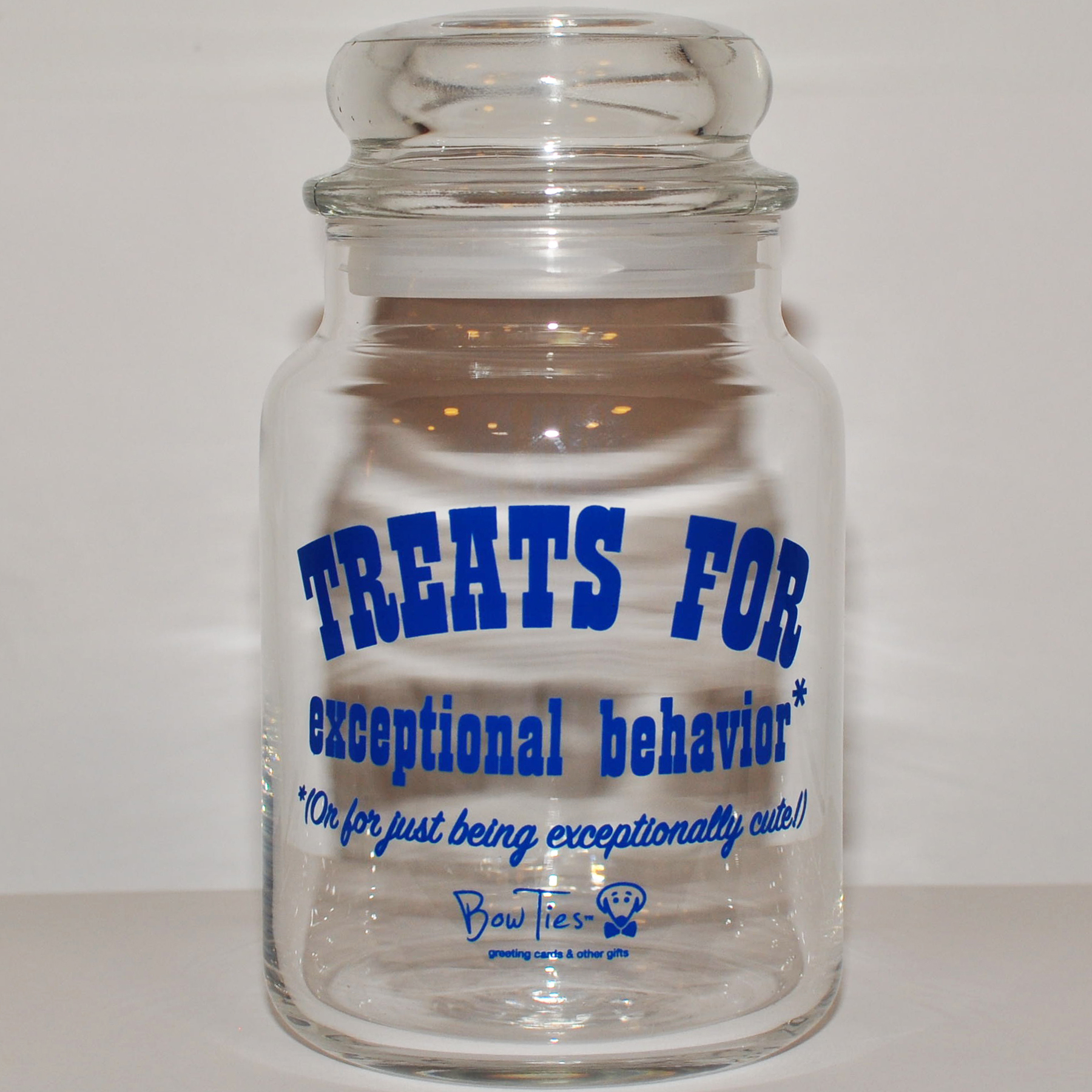 Treats for Exceptional Behavior – pet treat jar