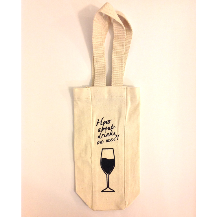 Wine gift bag tote – How about drinks on me?!