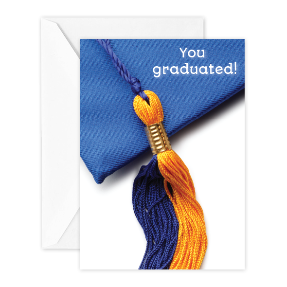 You graduated!